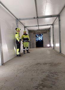 Rømningstunnel av Foamrox elementer i en tunnel i Mandal